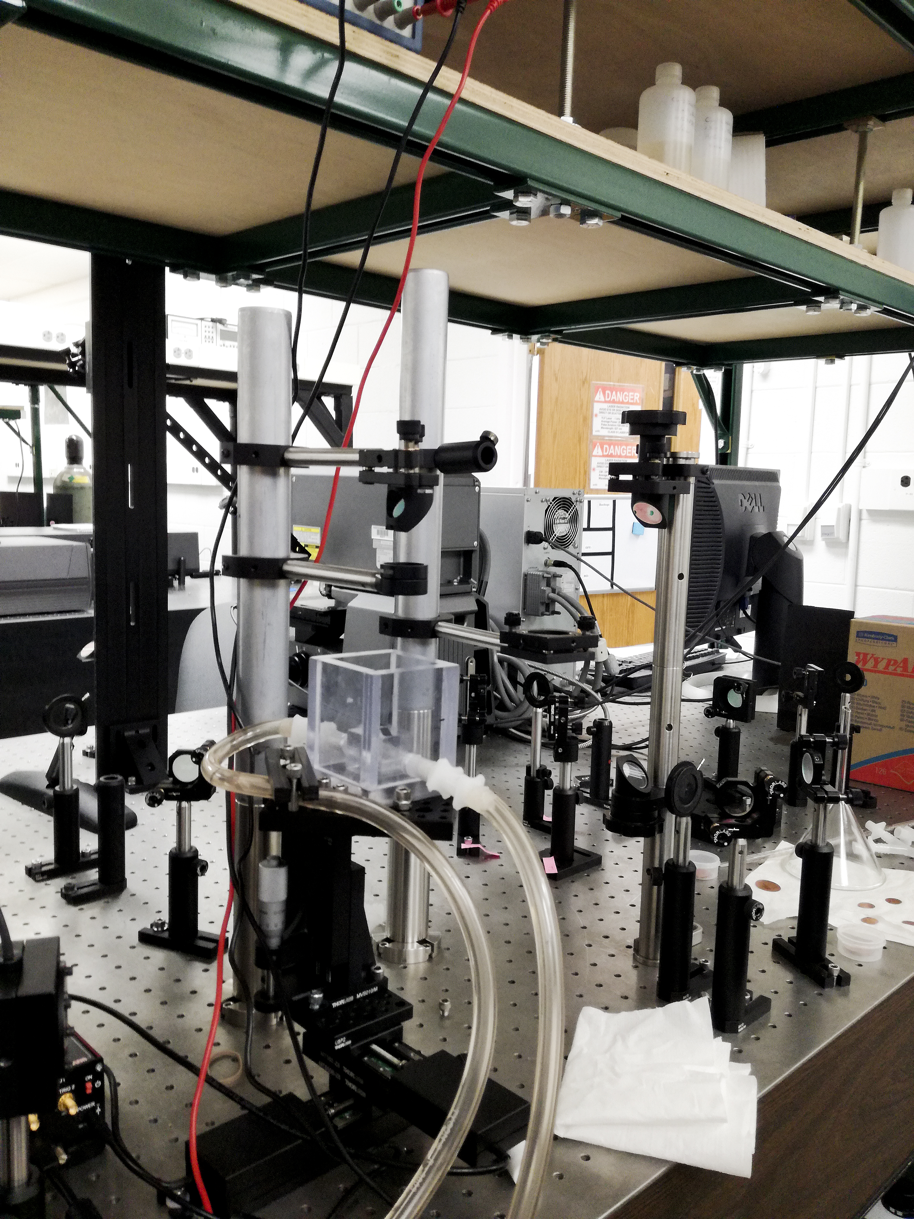Part of the femtosecond laser setup in lab Prof. Chunlei Guo (photo courtesy of Rubins J. Spaans)
